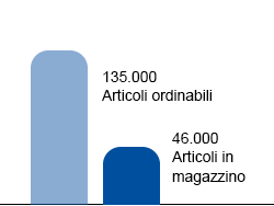 46.000 Articoli immediatamente disponibili
