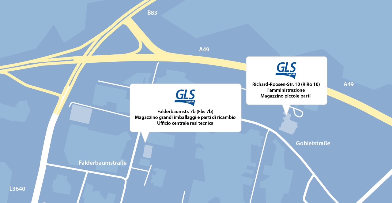Map GLS Logistik GmbH & Co. Dental Handel KG